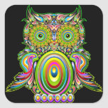 Owl Psychedelic Popart Sticker