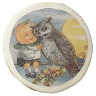 Owl Pumpkin child Halloween Cookie Sugar Cookie