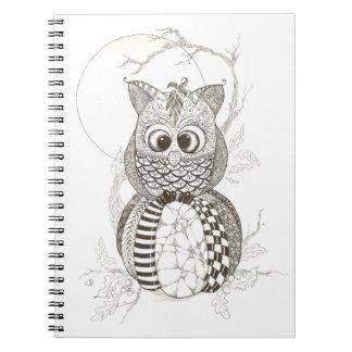 Owl Pumpkin Halloween Notebooks