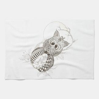 Owl Pumpkin Halloween Towel