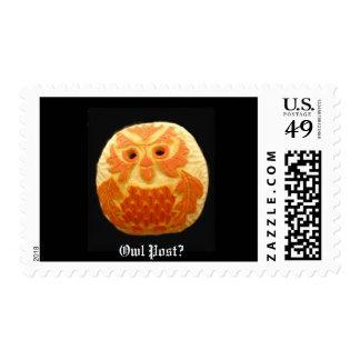 Owl Pumpkin Postage