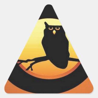 Owl pumpkin triangle sticker
