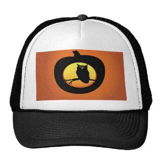 owl-pumpkin-vector trucker hat