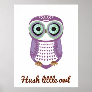 Owl Purple Poster Hush