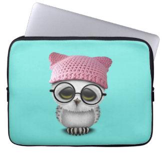 owl pussy hat laptop sleeve