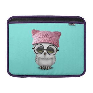 owl pussy hat MacBook sleeve