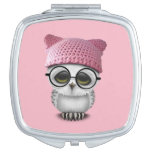 owl pussy hat mirror for makeup