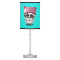 owl pussy hat table lamp
