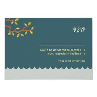 Owl & Pussycat (Blue) Wedding RSVP w/ envelopes Card