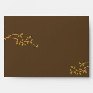 Owl & Pussycat Storybook Wedding (Blue and Brown) Envelope