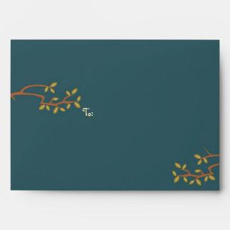 Owl & Pussycat Storybook Wedding (Sea Blue) Envelope