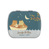 Owl & Pussycat Storybook Wedding (Sea Blue) Jelly Belly Candy Tin