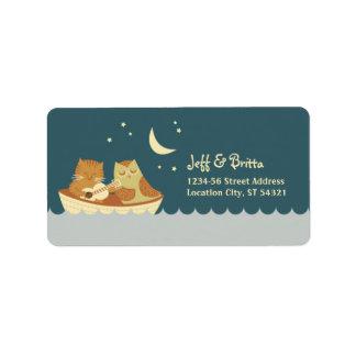Owl & Pussycat Storybook Wedding (Sea Blue) Label