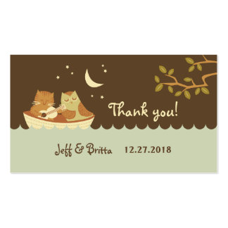 Owl & Pussycat Wedding Favor Tags Business Card