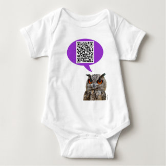 Owl QRCode Baby Bodysuit
