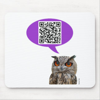 Owl QRCode Mouse Pad