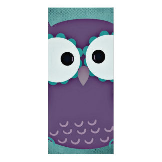 Owl Personalized Rack Card