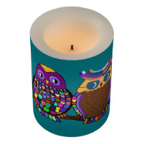 Owl Rainbow Flameless Candle