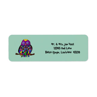 Owl Rainbow Label