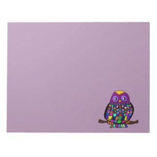 Owl Rainbow Notepad