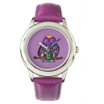 Owl Rainbow Wristwatch