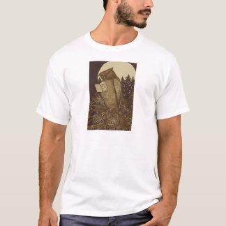 Owl  Reading by Moonlight T-Shirt