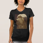 Owl  Reading by Moonlight T-shirts