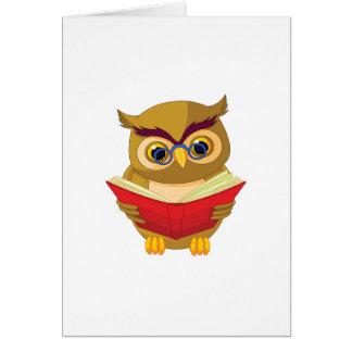 Owl Reading Card