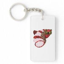Owl Rectangular Keychain