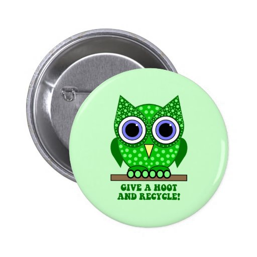 owl recycle pins