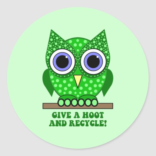 owl recycle sticker