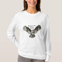 Owl, Respect the Earth Native American Quote T-Shirt
