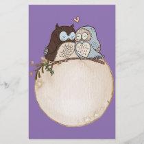owl, retro, elegant