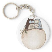owl, retro, elegant keychain