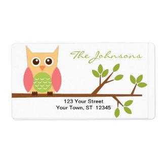 Owl return address labels - rectangle stickers