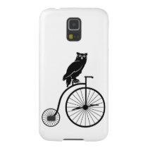 Owl Riding Vintage Bike Galaxy S5 Case