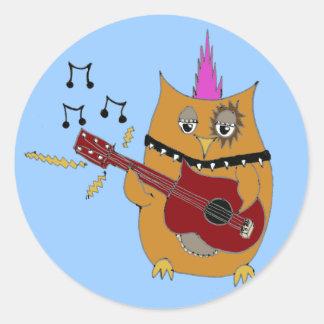 Owl Right Now Baby Rocker Owl Classic Round Sticker