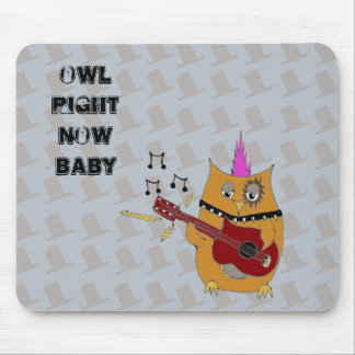Owl Right Now Baby Rocker Owl Mouse Pad