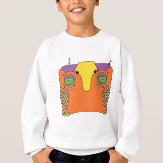 Owl Robot Orange Yellow Green Purple Sweatshirt