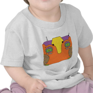 Owl Robot Orange Yellow Green Purple Tshirts