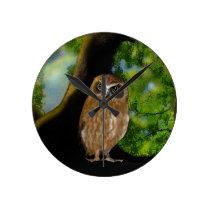 Owl Round Clock