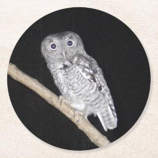 Owl Round Paper Coaster
