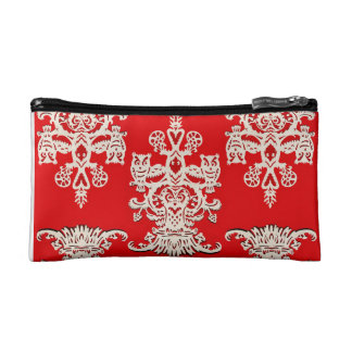 Owl`s hollow -red cosmetic bag