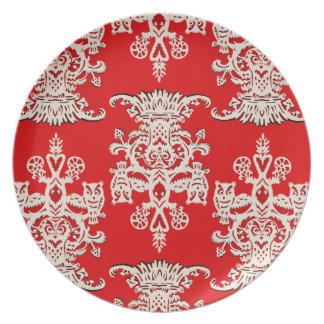 Owl`s hollow red plates