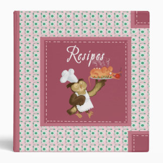 Owl`s recipes 3 ring binder