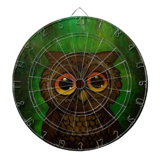 Owl sad eyes dart boards