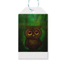 Owl sad eyes gift tags