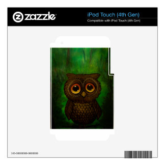 Owl sad eyes skins for iPod touch 4G