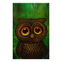 Owl sad eyes stationery
