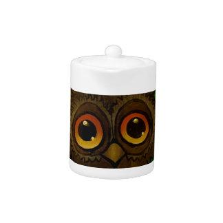 Owl sad eyes teapot